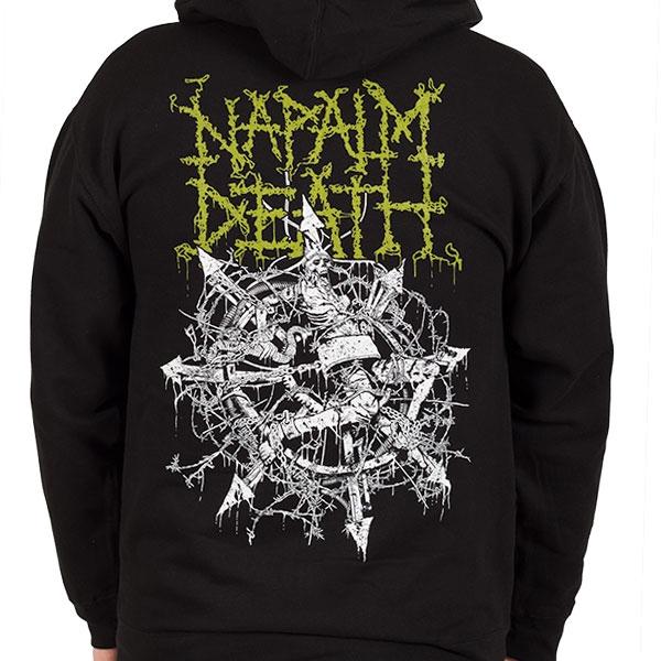 Napalm Death Quot Chaos Quot Zip Hoodie Indiemerchstore