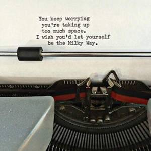 Typewriter Poem Magnet (You Keep Worrying)