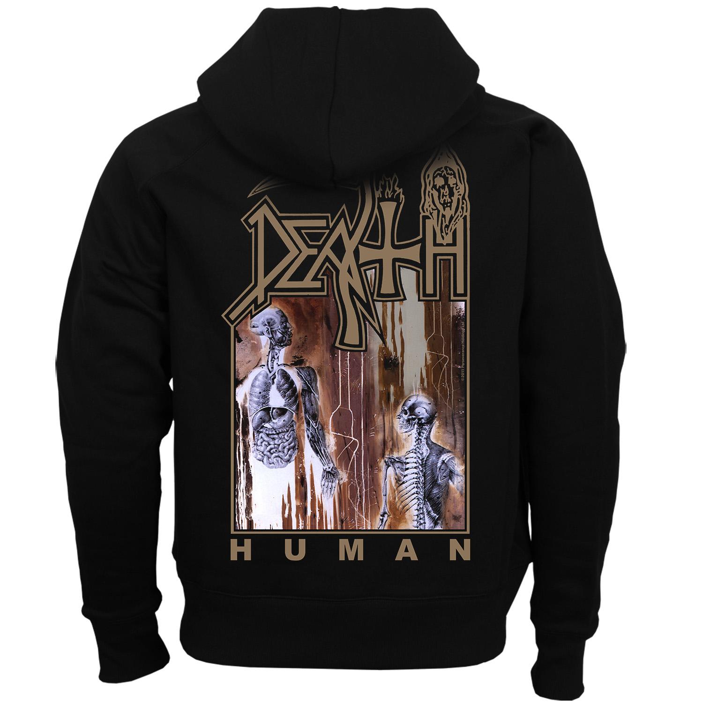 Death Quot Human Quot Zip Hoodie Relapse Records