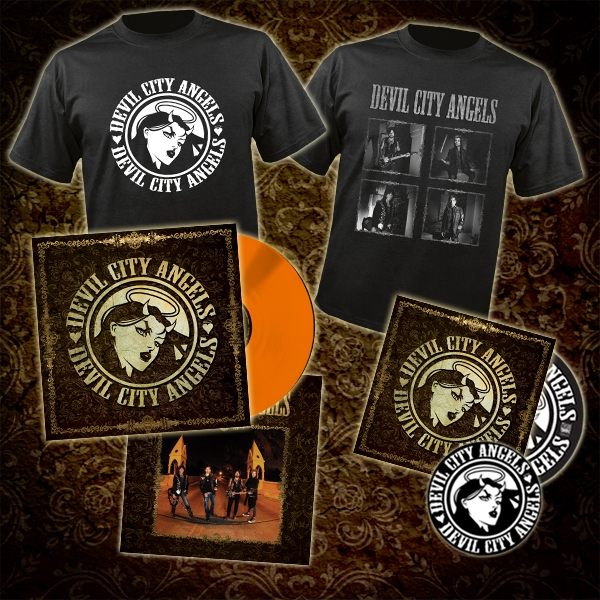 Devil City Angels CD + LP + Logo Tee + Band Photo Tee