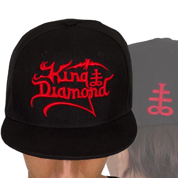 Logo Snapback (Red On Black)