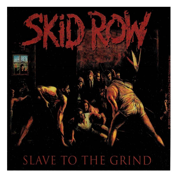 skid row quotslave to the grindquot stickers amp decals horror
