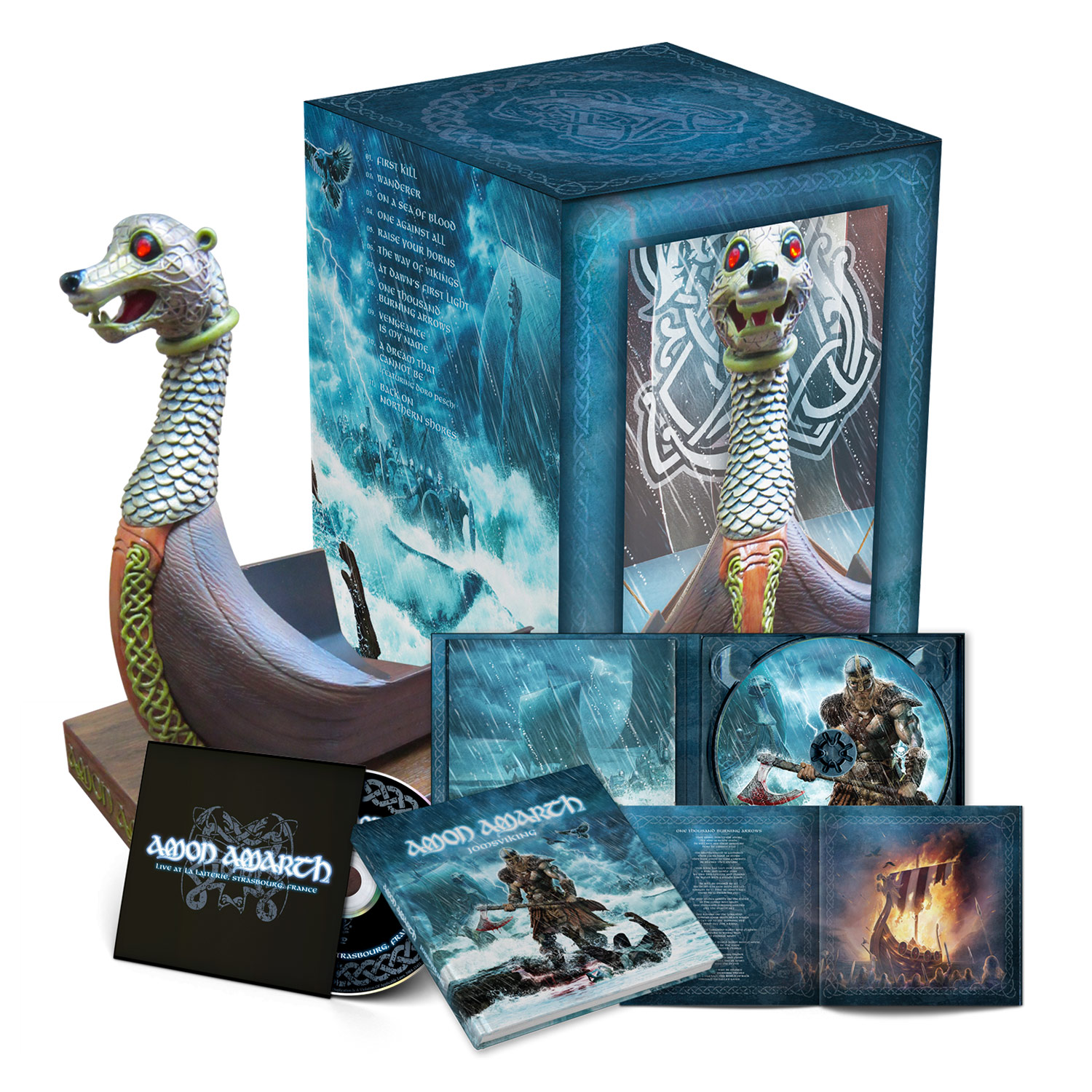 amon amarth jomsviking limited edition box set boxset metal blade records. Black Bedroom Furniture Sets. Home Design Ideas