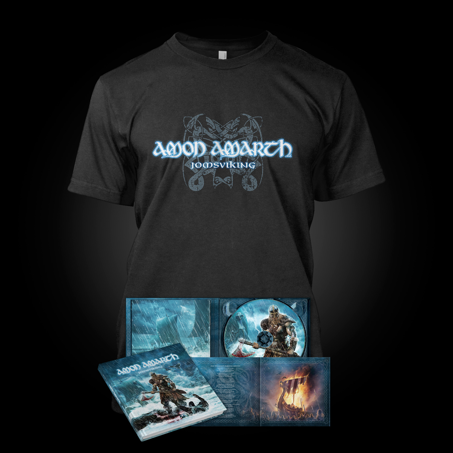 amon amarth jomsviking t shirt cd bundle bundle metal blade records. Black Bedroom Furniture Sets. Home Design Ideas