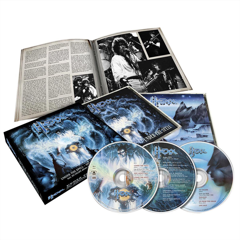 hexx under the spell 30th anniversary box set 2xcd dvd metal