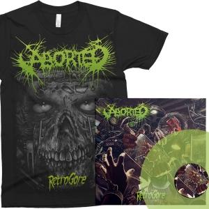 "Retrogore Green 12""/CD + T-Shirt Bundle"