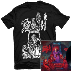 Scream Bloody Gore Line Art T Shirt (Black) + LP Bundle