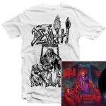 Scream Bloody Gore Line Art T Shirt (White) + LP Bundle