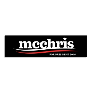 mc for president 2016 black bumper sticker