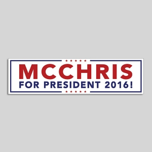 mc for president 2016 white bumper sticker
