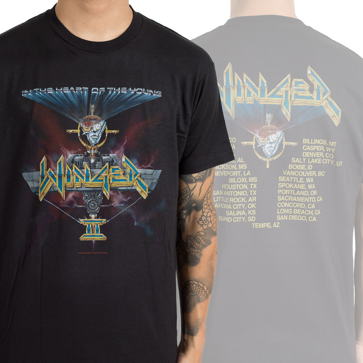 Winger Quot In The Heart Of The Young Tour Quot T Shirt Horror
