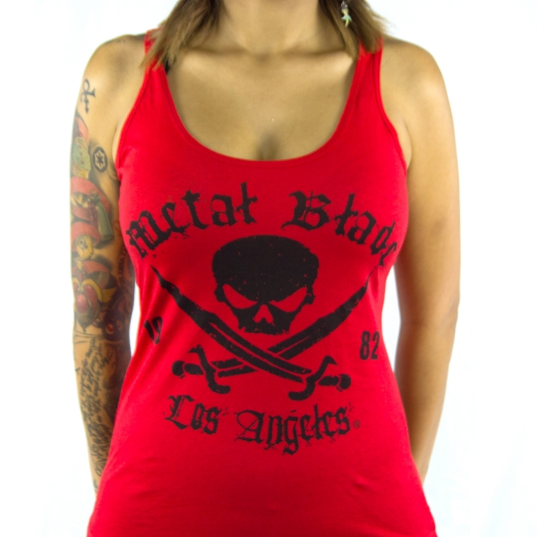 Pirate Logo - Black on Red