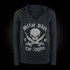 Pirate Logo - V-Neck Hooded Longsleeve