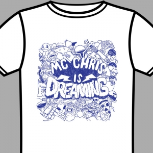 white dreaming shirt