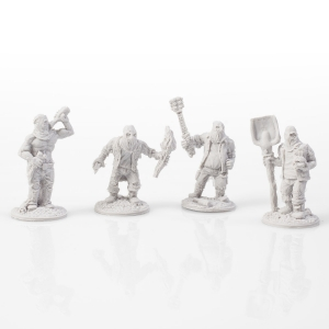 Ghoul Action Figure Miniatures (pack of 4)