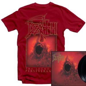 The Sound of Perseverance T Shirt (Red) + LP Bundle