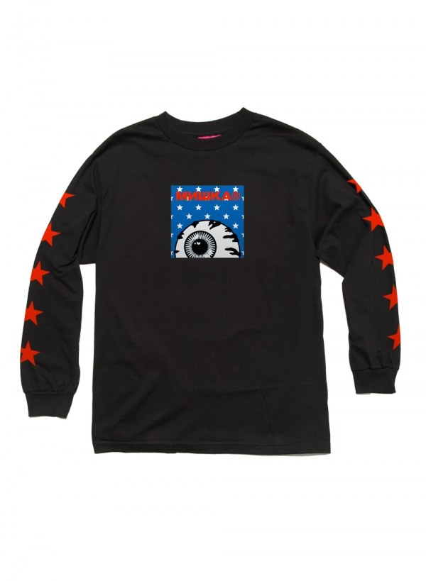 Star Spangled Keep Watch Box Logo L/S Shirt