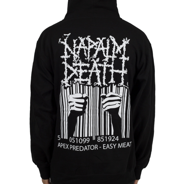 Napalm Death Quot Apex Barcode Quot Zip Hoodie Indiemerchstore