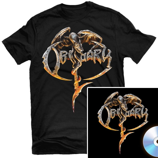 Obituary T Shirt + CD Bundle