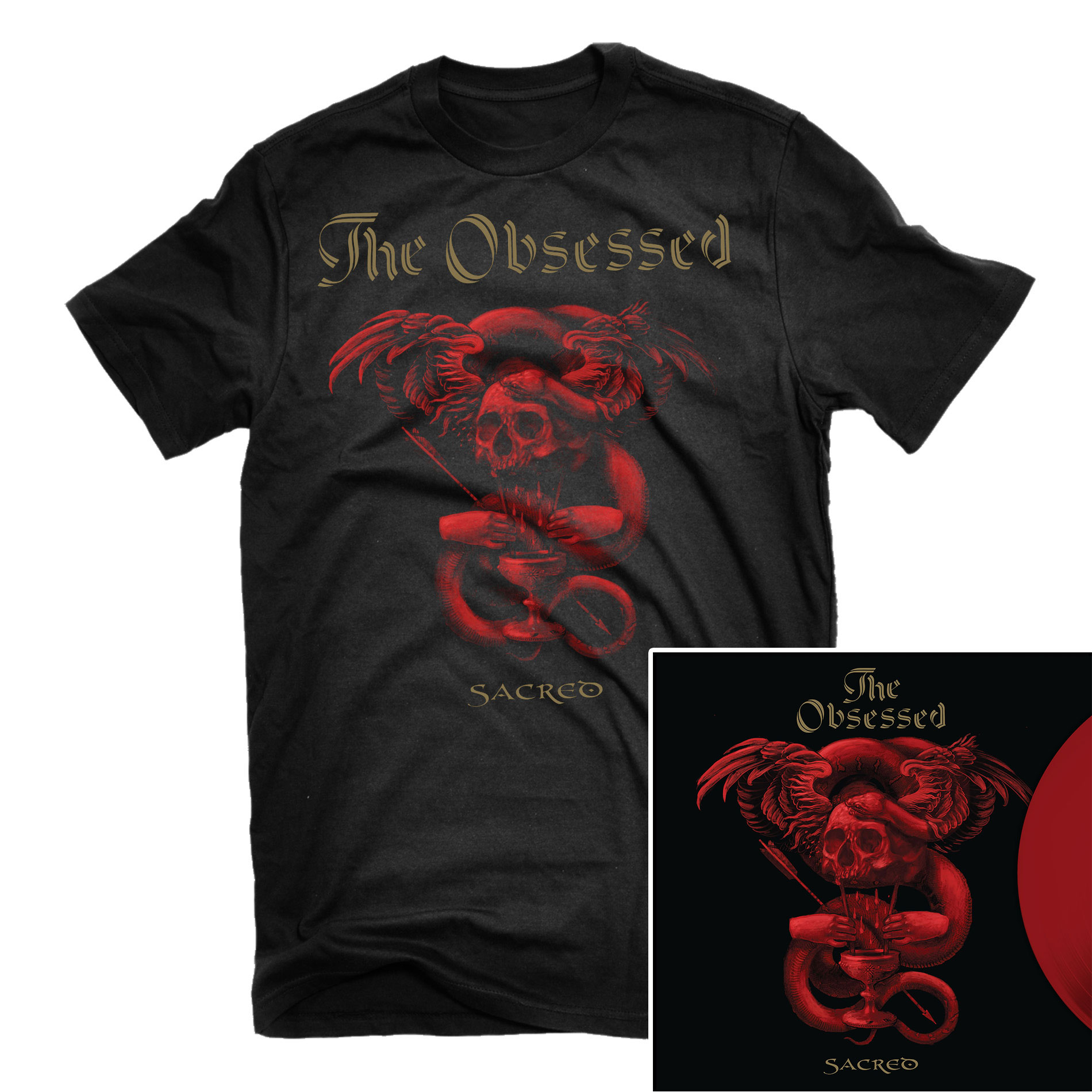 Sacred T Shirt + LP Bundle