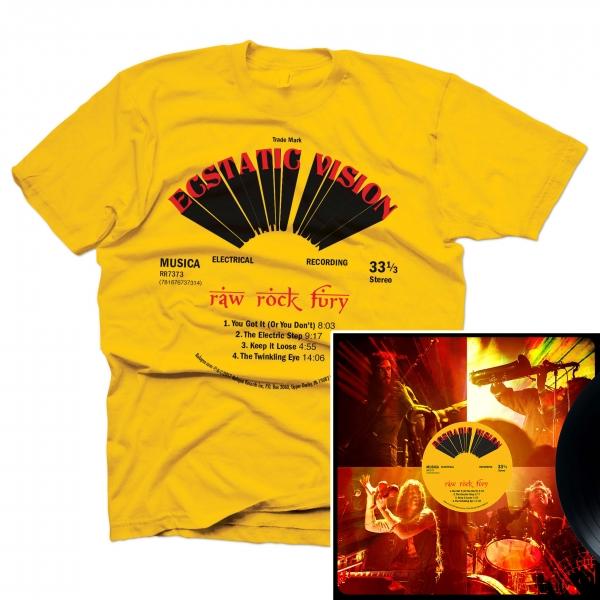Raw Rock Fury T Shirt + LP Bundle