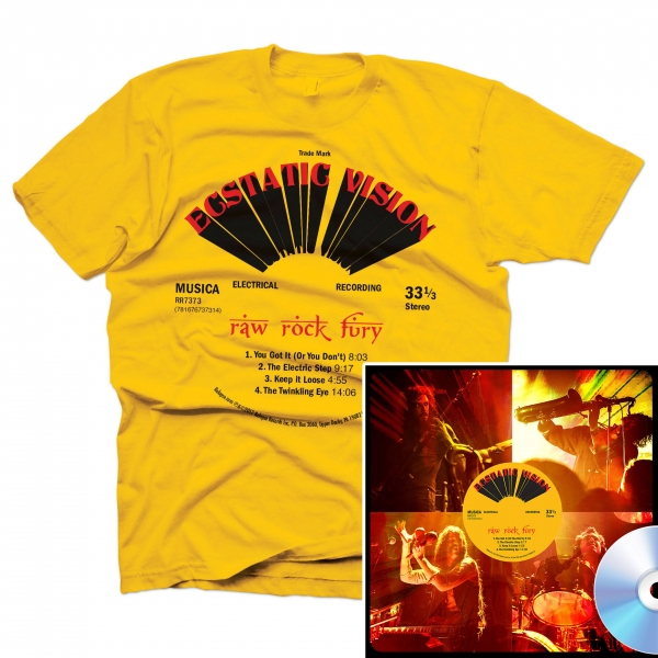 Raw Rock Fury T Shirt + CD Bundle