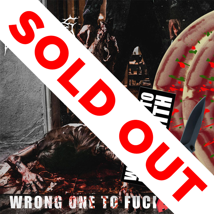 Wrong One To Fuck With Knife + Bumper Sticker + 2LP Deluxe Bundle