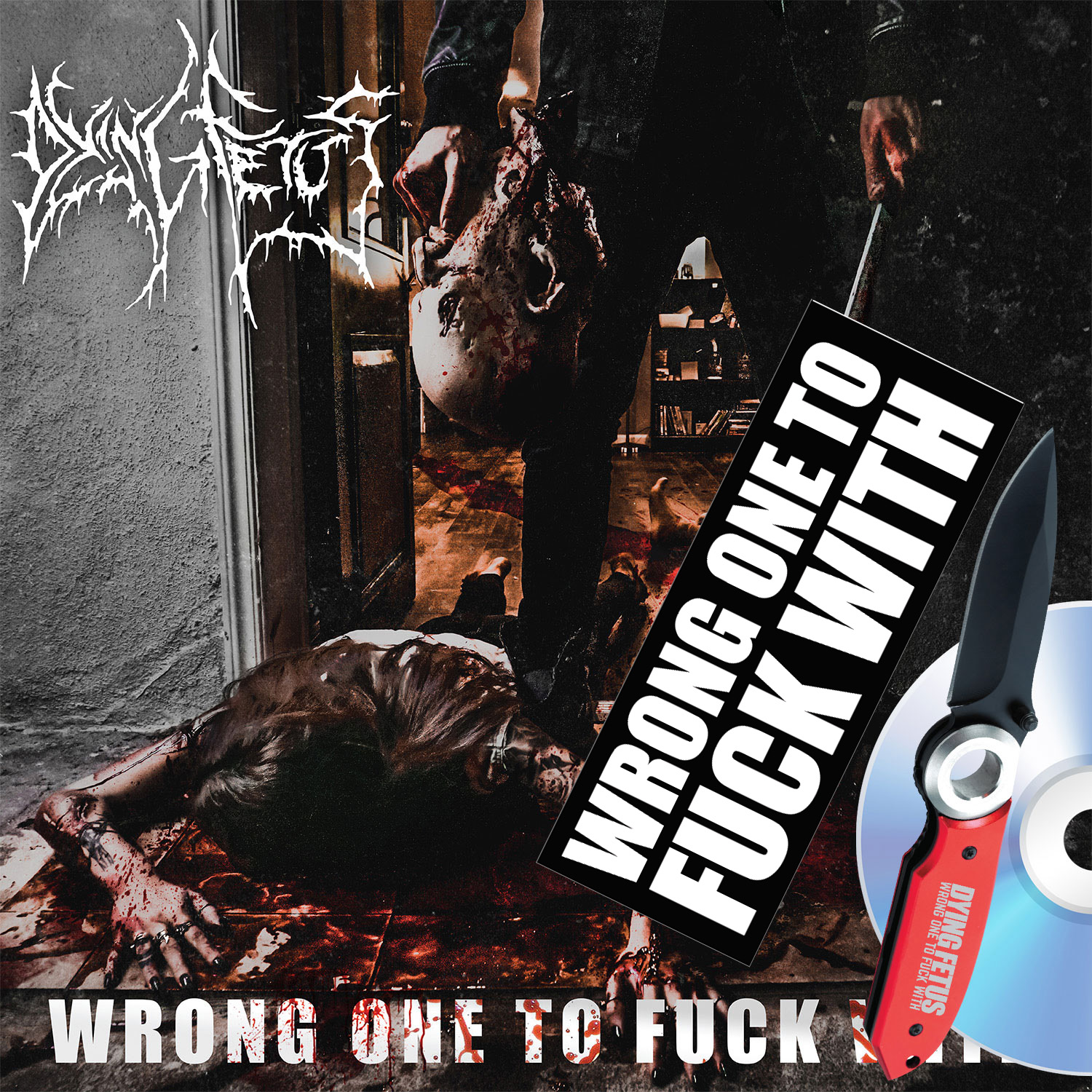 Wrong One To Fuck With Knife + Bumper Sticker + CD Deluxe Bundle