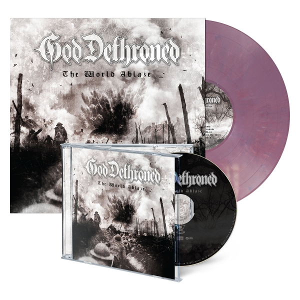 The World Ablaze - CD/LP Bundle - Violet