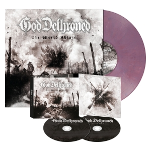 The World Ablaze - Digipak/LP Bundle - Violet