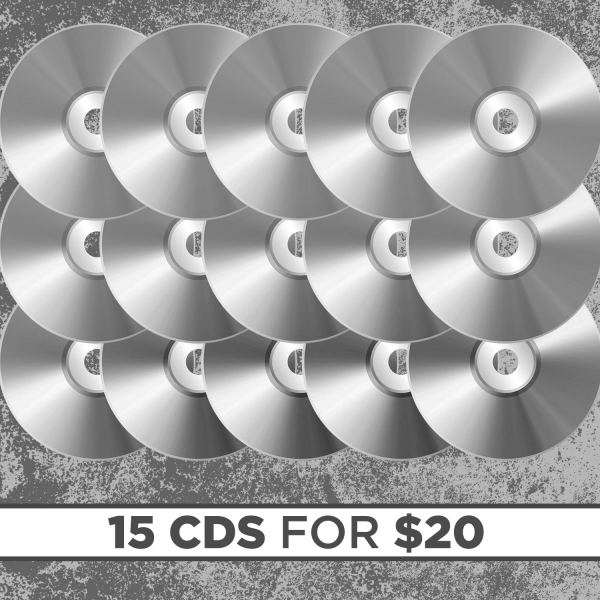 15 CDs for $20