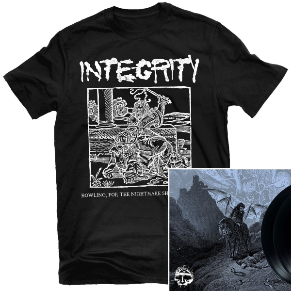 Blood Sermon T Shirt + Howling, For The Nightmare Shall Consume 2LP Bundle