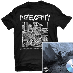 Blood Sermon T Shirt + Howling, For The Nightmare Shall Consume CD Bundle