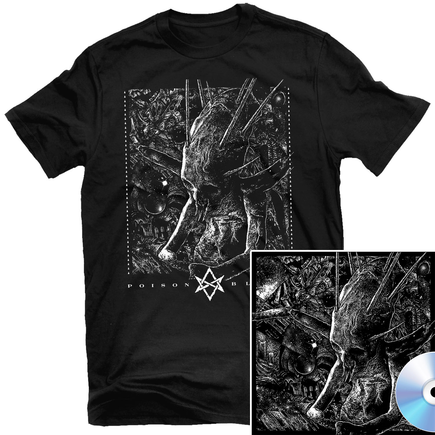 Poison Blood T Shirt + CD Bundle