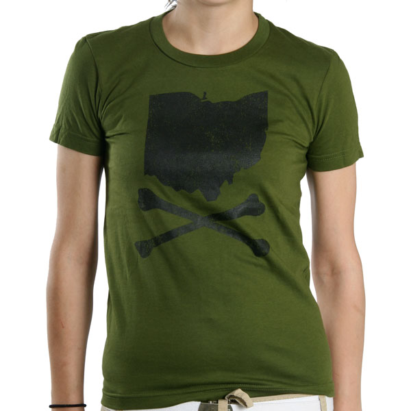 Oh Clothing Womens Vintage Olive Green Girls T Shirt