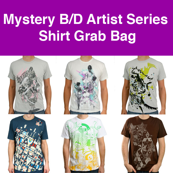 Mystery B/D Artist Series Shirt Grab Bag (Includes 3 T-shirts)