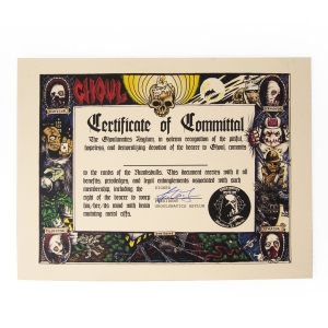 Certificate of Committal