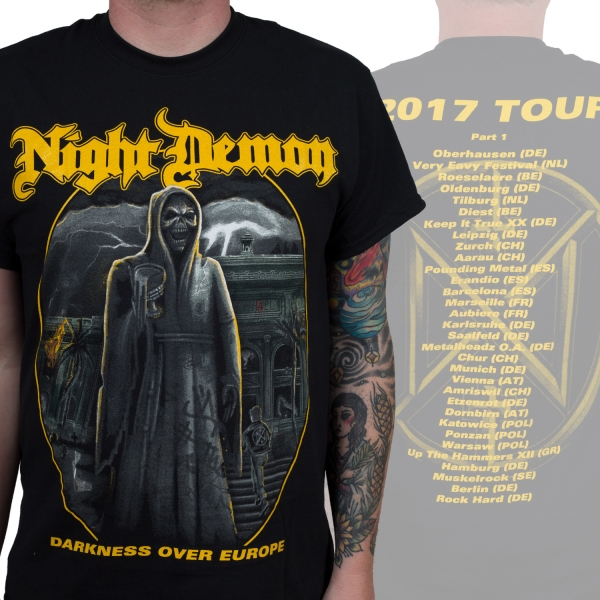 Darkness Over Europe Tour Shirt