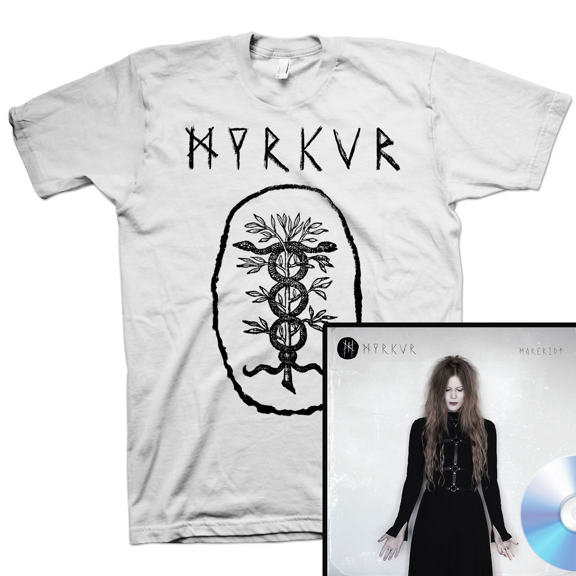 Snake T Shirt + Mareridt CD Bundle