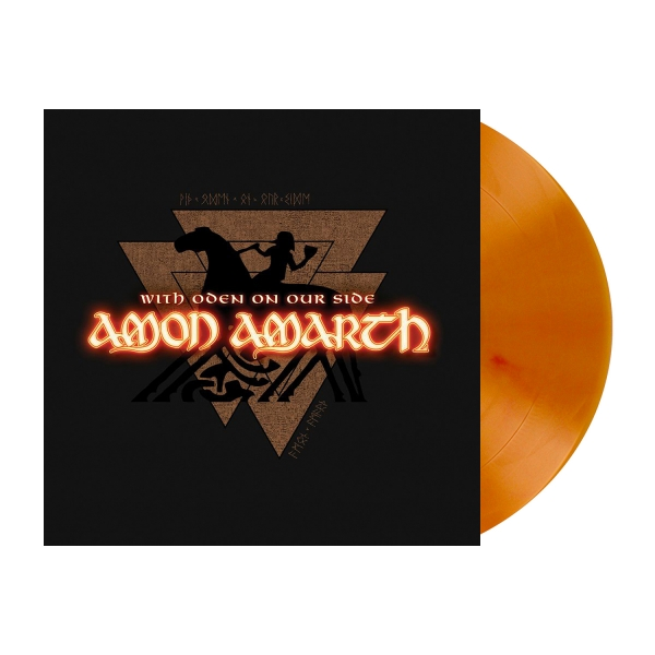 With Oden on Our Side - Dahlia Orange Marble LP