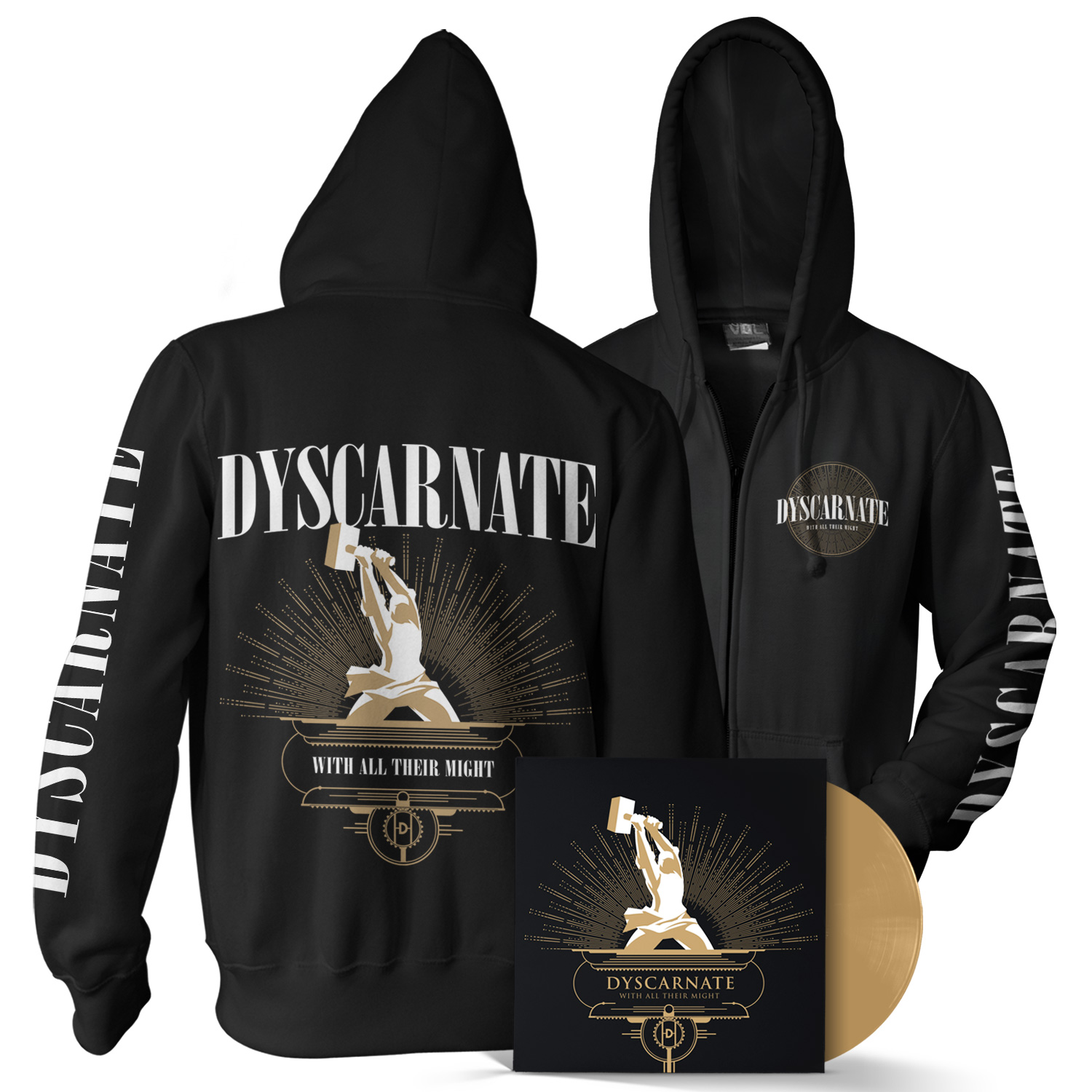 With All Their Might LP + Hoody Bundle