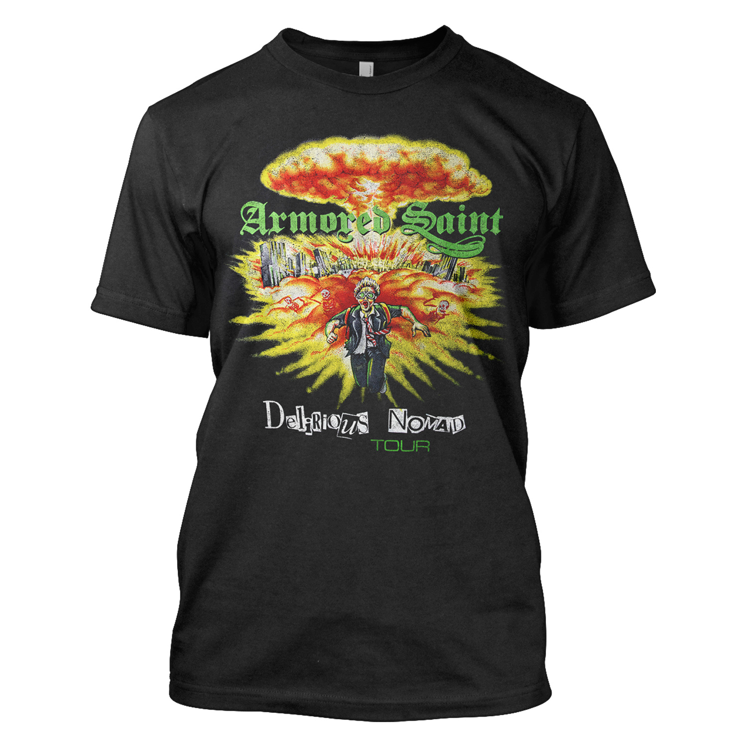 armored saint quotdelirious nomad tour 87quot tshirt armored