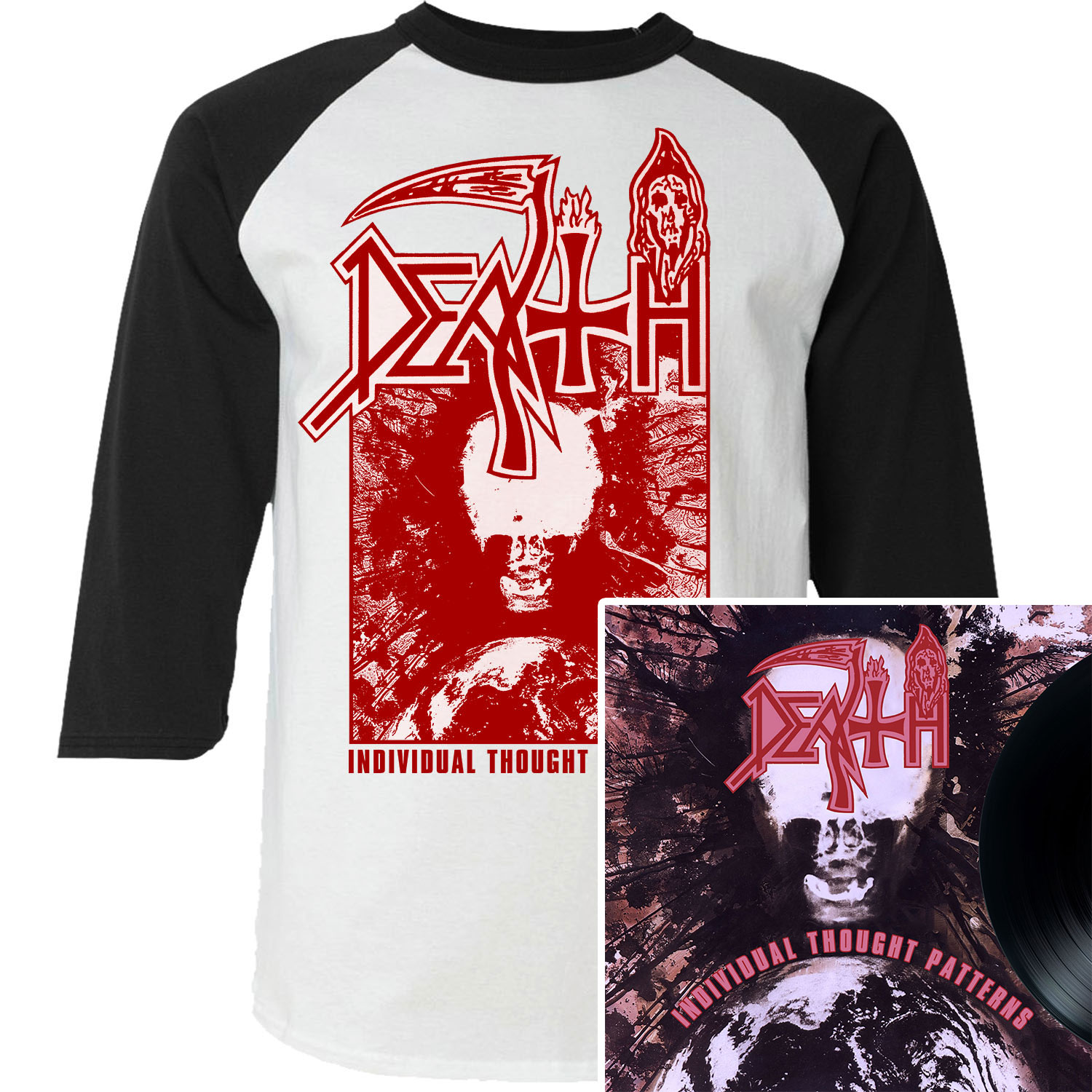 Individual Thought Patterns Raglan + LP Reissue Bundle