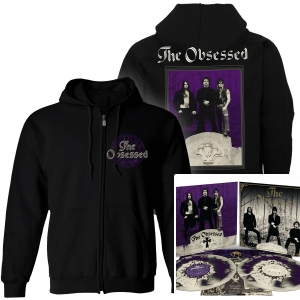 The Obsessed Zip Up Hoodie + The Obsessed (Reissue) LP + Demo (Reissue) LP Bundle