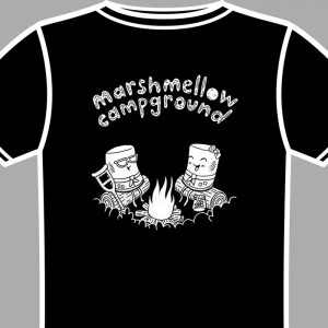 marshmellow campground shirt