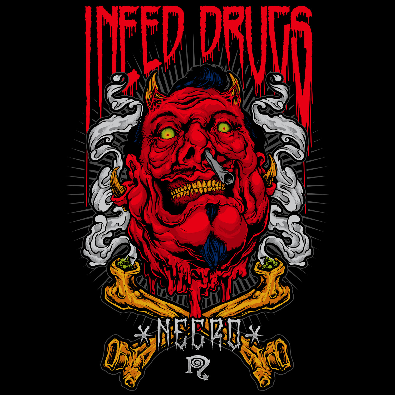 "Devil: Necro ""I Need Drugs Red Devil"" T-Shirt"