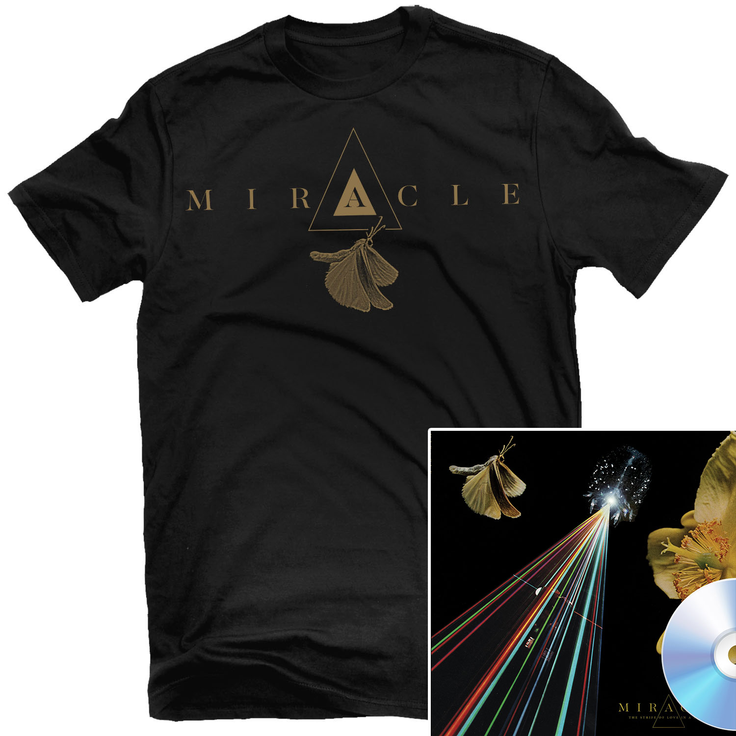 The Strife Of Love In A Dream T Shirt + CD Bundle