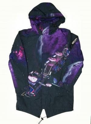 Allover Satellite Keep Watch Long Jacket