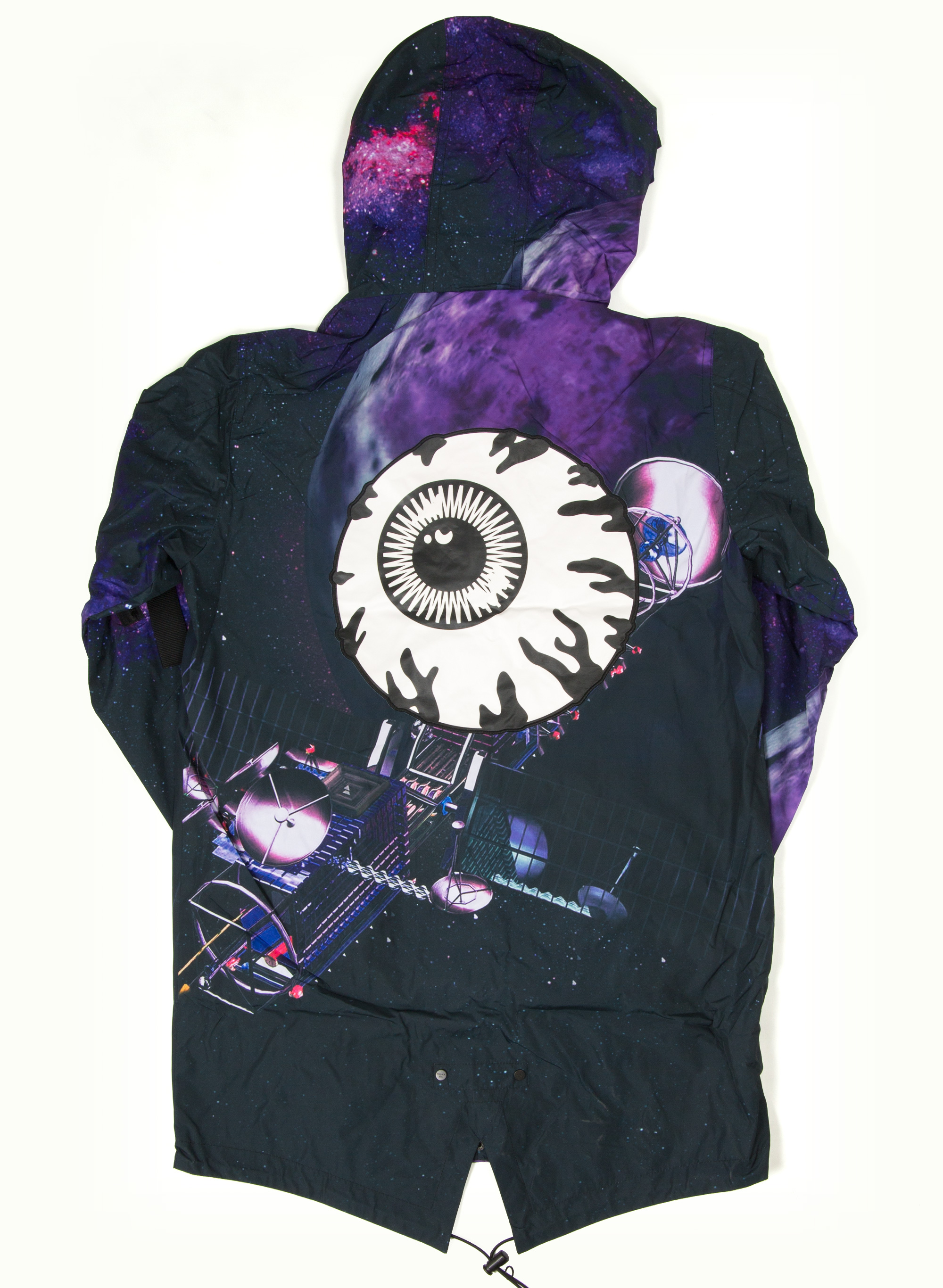 Allover Satellite Keep Watch Long Jacket