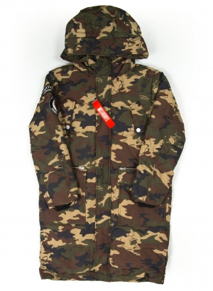 Lamour On Sight Hooded Camo Down Coat